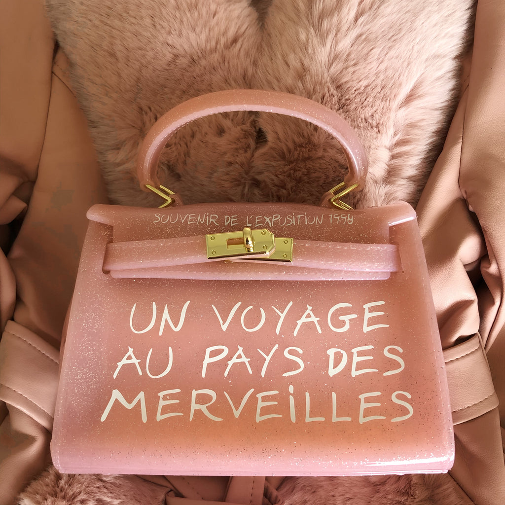 PINK UN VOYAGE GRAFFITI BAG SMALL