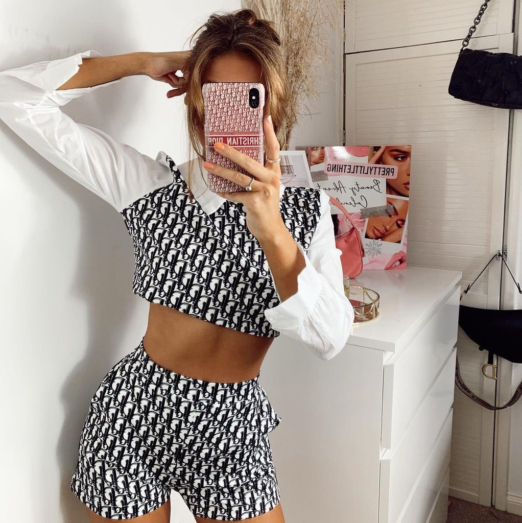 Darcey print shirt and shorts co ord