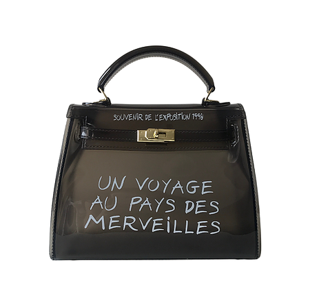 KIKI BLACK UN VOYAGE GRAFFITI BAG LARGE - Celeb Threads