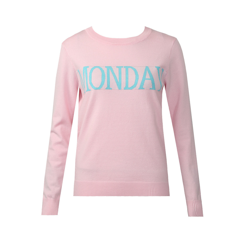 MONDAY ROSE BLUSH WEEKDAY JUMPER - Celeb Threads
