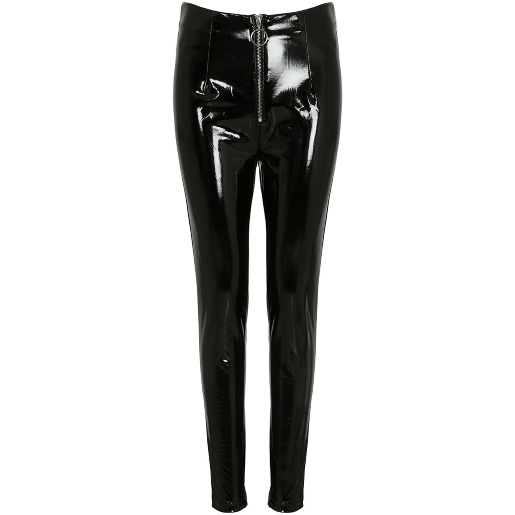 ISLA O RING VINYL LEGGINGS - Celeb Threads