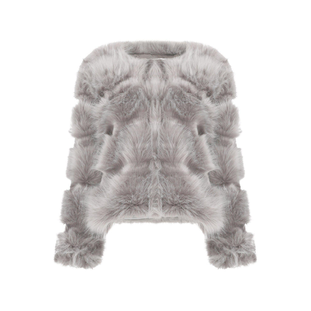 NAOMI PELTED PANELLED FAUX FUR JACKET - Celeb Threads