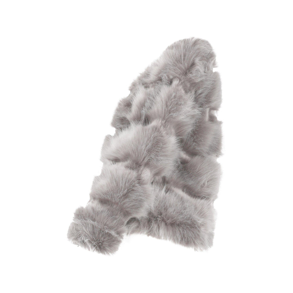 NAOMI GREY PELTED PANELLED FAUX FUR JACKET - Celeb Threads