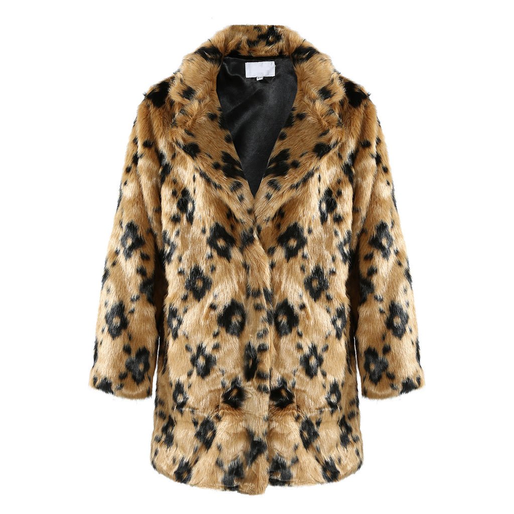 LOUIS SHAGGY FAUX FUR COAT - Celeb Threads