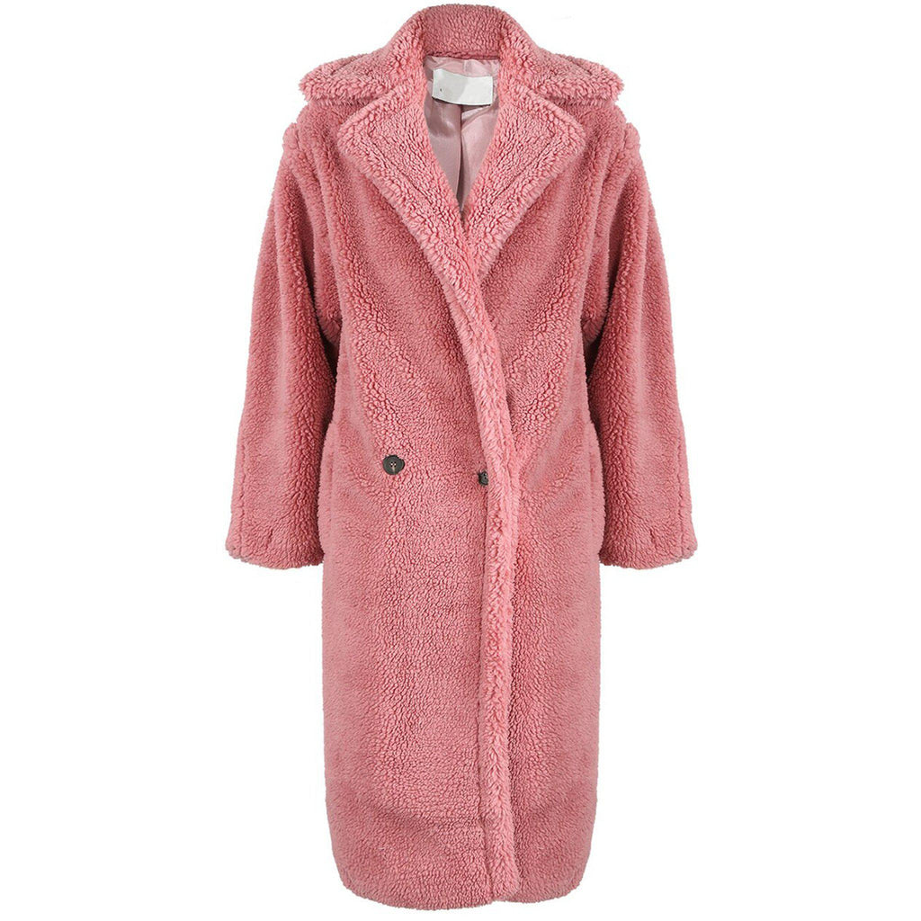 GIGI ROSE PINK TEDDY COAT - Celeb Threads