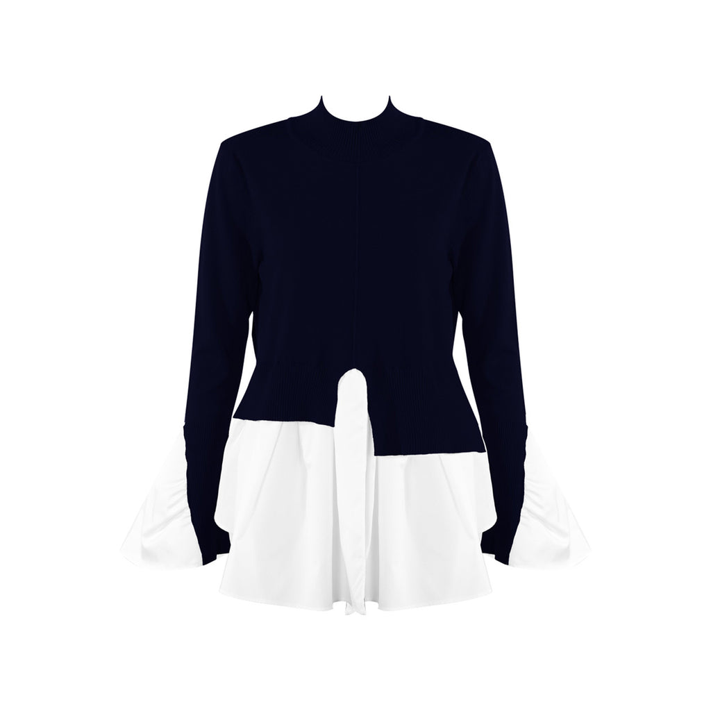 ALICE NAVY TIER JUMPER - Celeb Threads