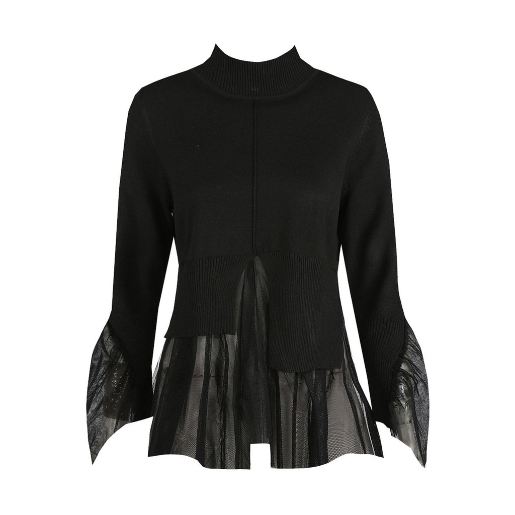 HARRIET BLACK TULLE FRILL JUMPER - Celeb Threads