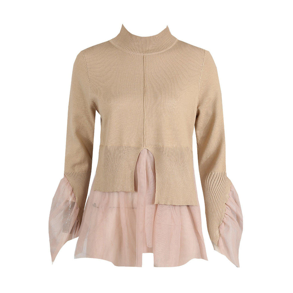 HARRIET NUDE TULLE FRILL JUMPER - Celeb Threads