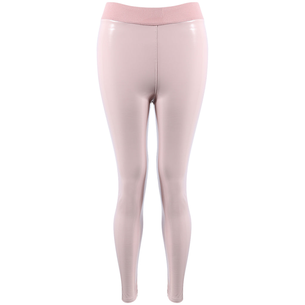 ESME NUDE VINYL LEGGINGS - Celeb Threads