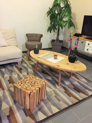 tablebasse en bois scandinave