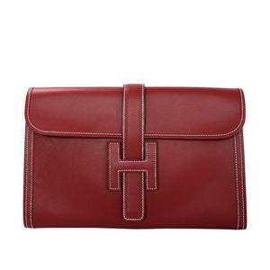 HERMÈS | Red Box Leather Clutch