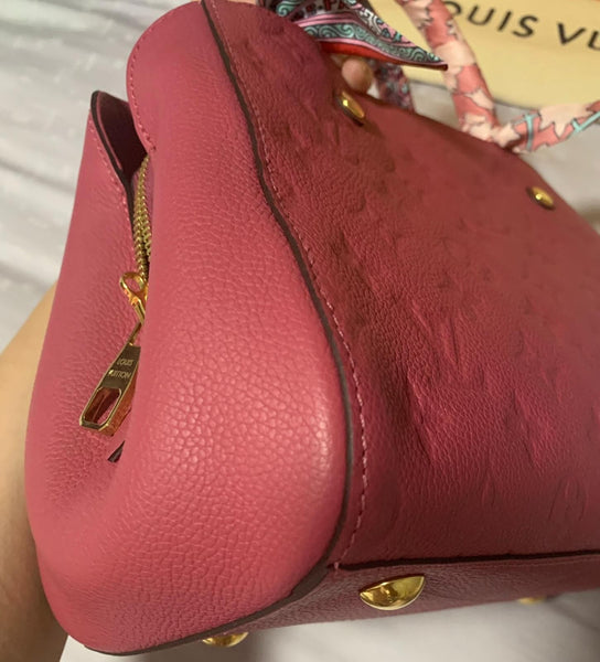 LOUIS VUITTON | Montaigne BB in Ruby
