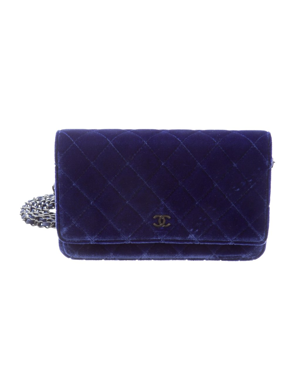 CHANEL | Quilted Velvet Wallet On Chain