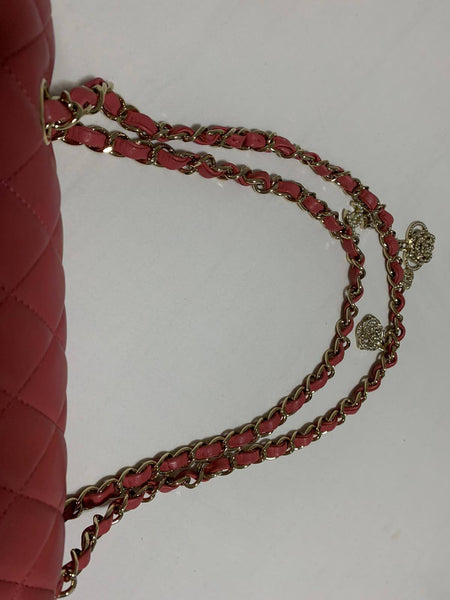 Chanel Pink Valentine Charms bag Medium