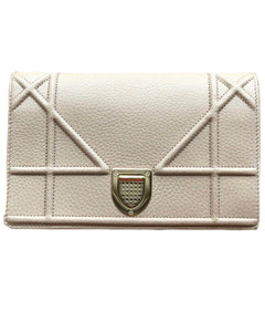 DIOR | CALFSKIN DIORAMA WALLET ON CHAIN CLUTCH