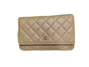 Chanel Woc Dark Beige Pearly Caviar Shw