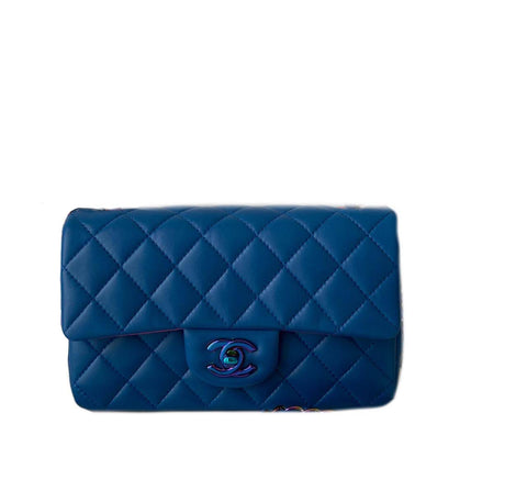 Chanel Mini Rectangular Lambskin Rainbow
