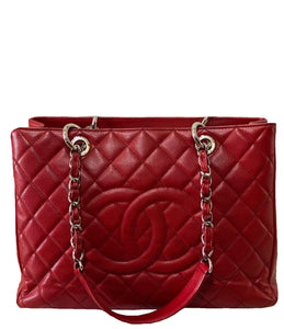 Chanel | Red Grand Shopping Tote Bag