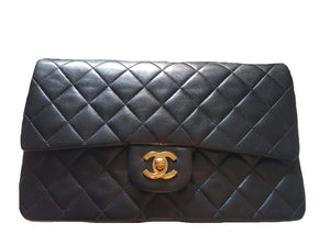 Chanel |  Vintage Classic Double Flap Bag Quilted Lambskin Medium