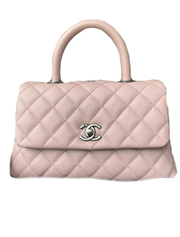 Chanel Caviar Mini Coco Handle Flap Pink
