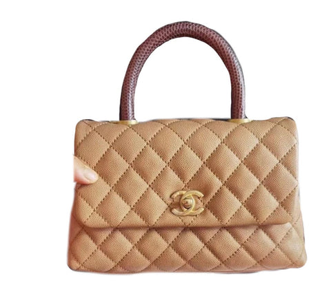 Chanel Coco With Lizard Handle Small