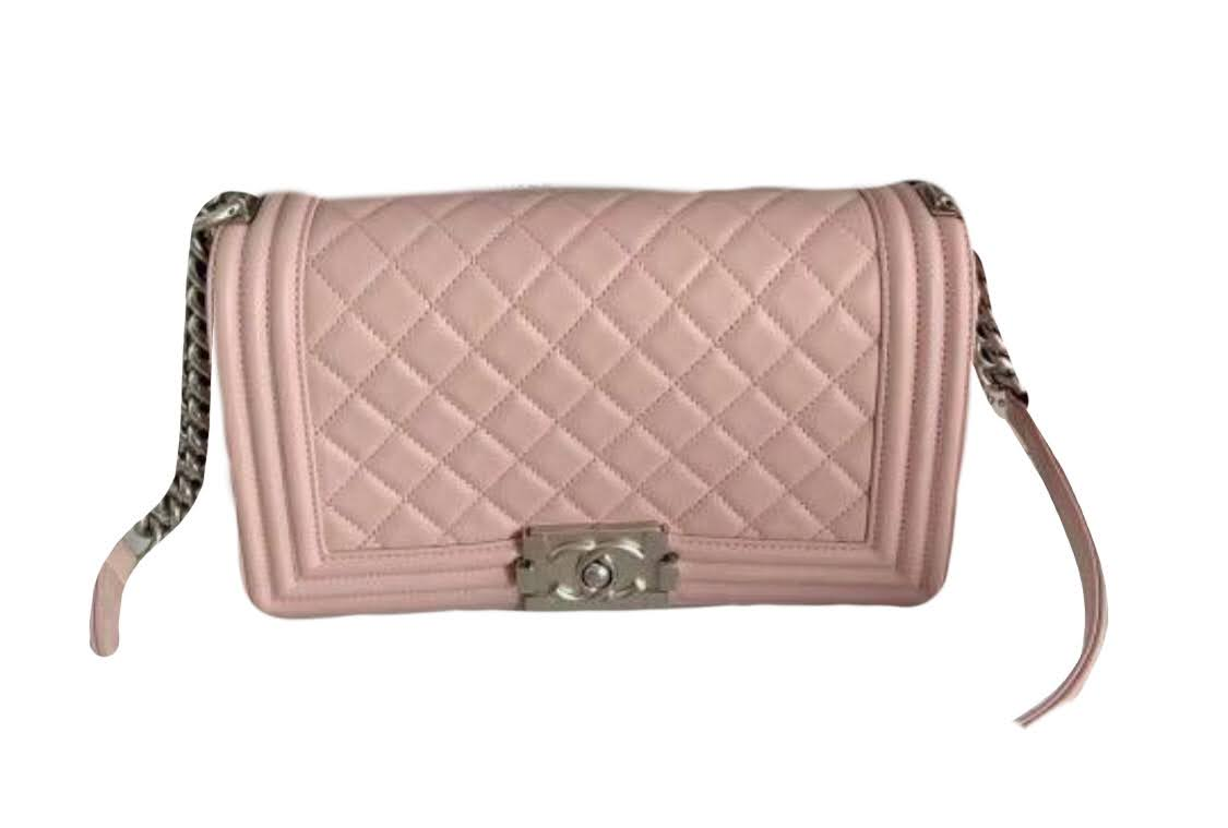 Chanel Boy Old Medium Pink In Shw