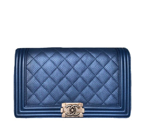 Chanel Boy Lambskin Navy