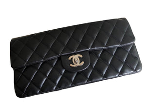 Chanel Black Quilted Lambskin Leather
