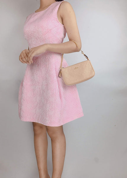 PINKO | Sleeveless Flared Pink Dress