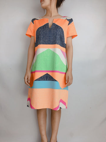 TRINA TURK | Geometric Printed Shift Dress