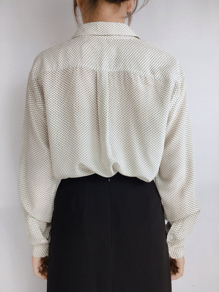 EQUIPMENT | XS Polka Dot Silk Blouse