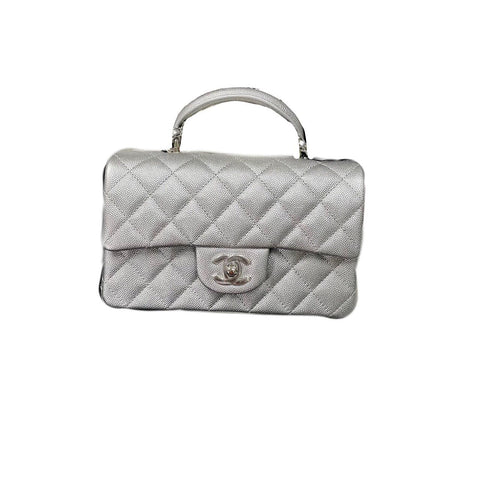 Chanel Mini Rectangular Handle Silver