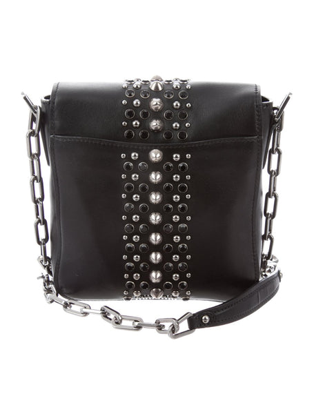 MIU MIU | Embellished Chain-Link Crossbody Bag