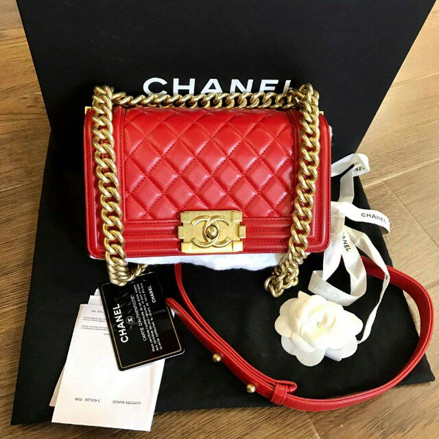 CHANEL | Boy Small Gold Matt Hardware