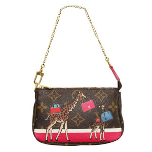 Louis Vuitton Mini Pochette Limited Christmas Edition with Giraffe Print