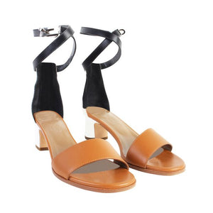 Manege Leather Ankle Strap Sandals Size 35.5