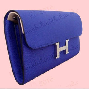 HERMÈS | Constance Wallet Electric Blue