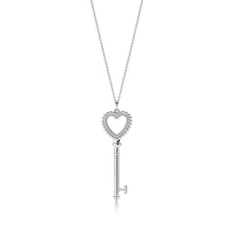 TIFFANY&CO | Heart Shape Key Silver Necklace