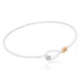 Florette Diamond Bracelet in 18K White & Rose Gold