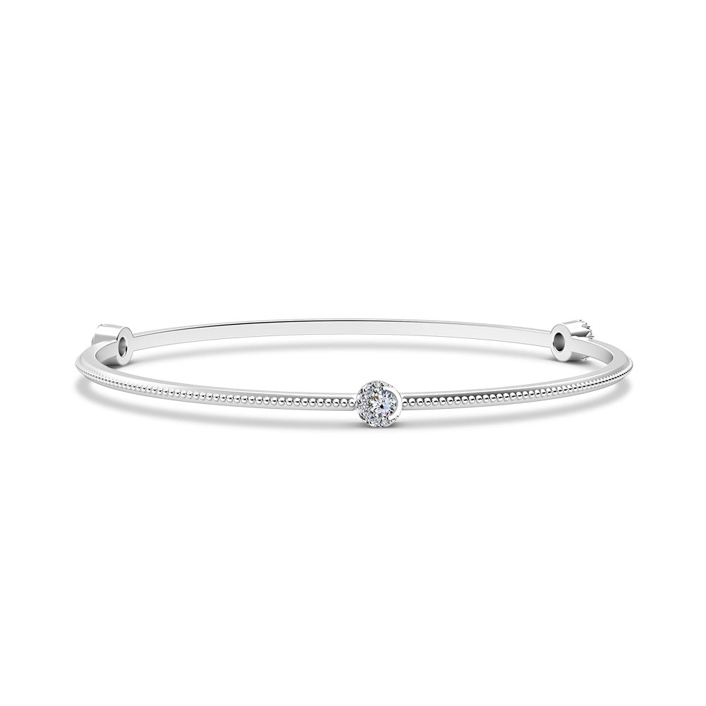 Inspiré Triple-Station Diamond Bangle in 18K Gold