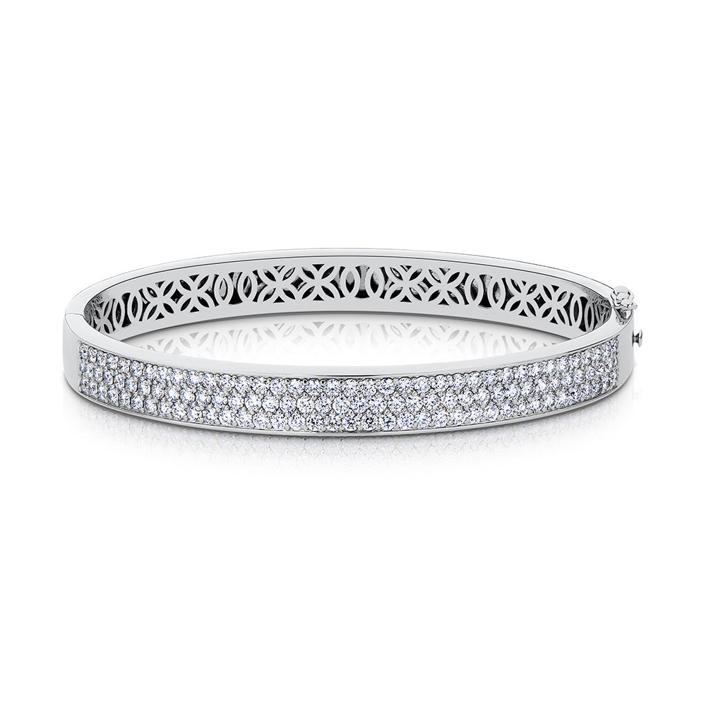 Splendeur Diamond Bangle in 18K Gold