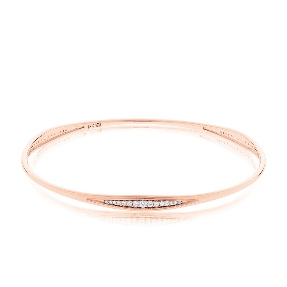 Pas de Trois Diamond Triple-Station Bangle in 18K Gold