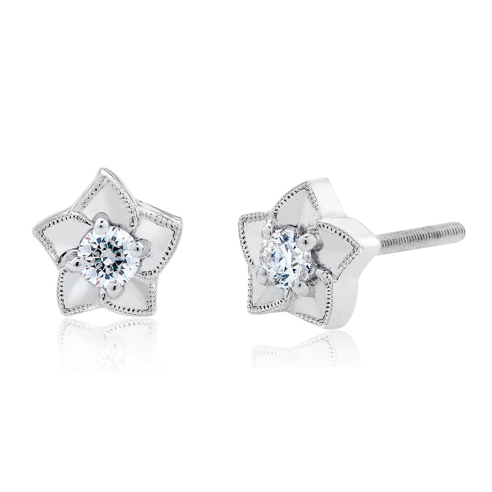 Etoile Diamond Stud Earrings in 18K Gold