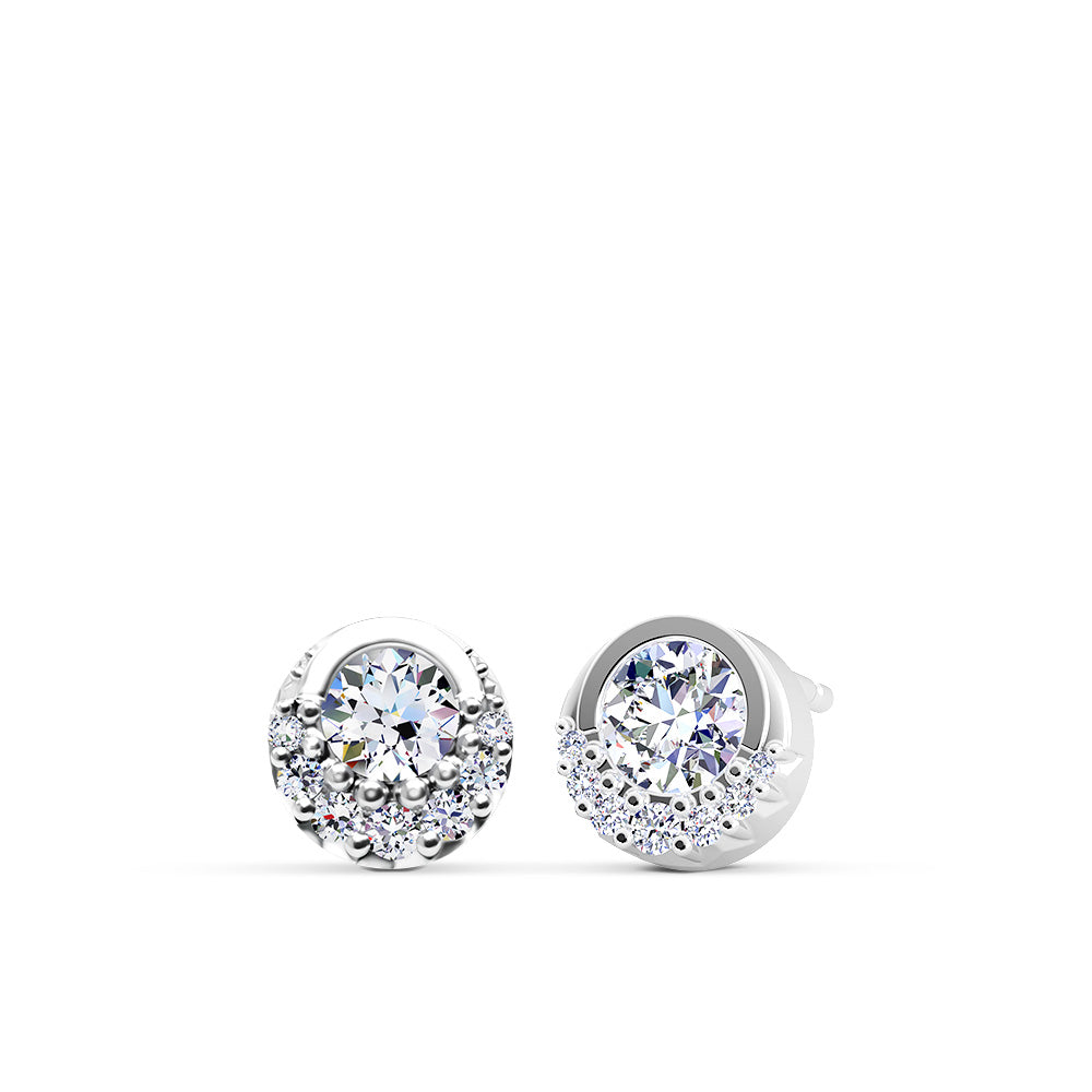 Inspiré Diamond Bezel Stud Earrings in 18K Gold