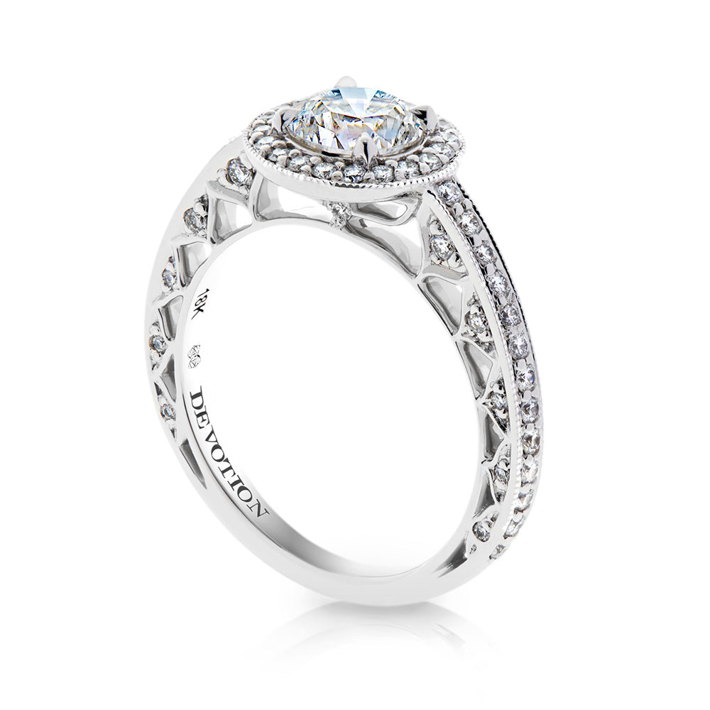 Vivienne Halo Engagement Ring