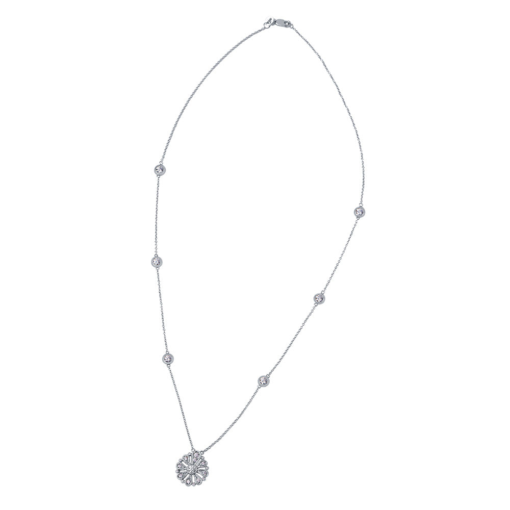 Lys Multi-Station Diamond Pendant Necklace in 18K Gold