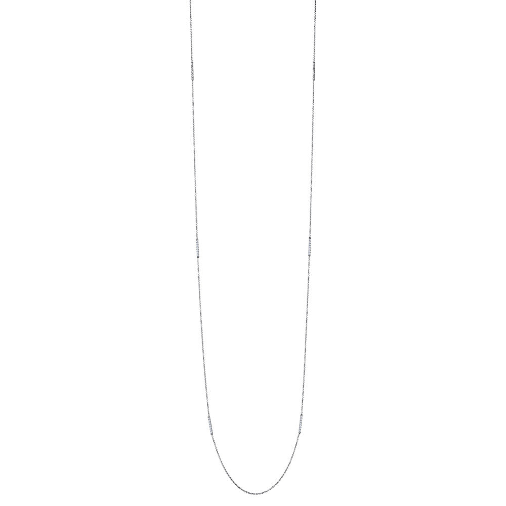 Classique Diamond Bar Multi-Station Necklace in 18K Gold