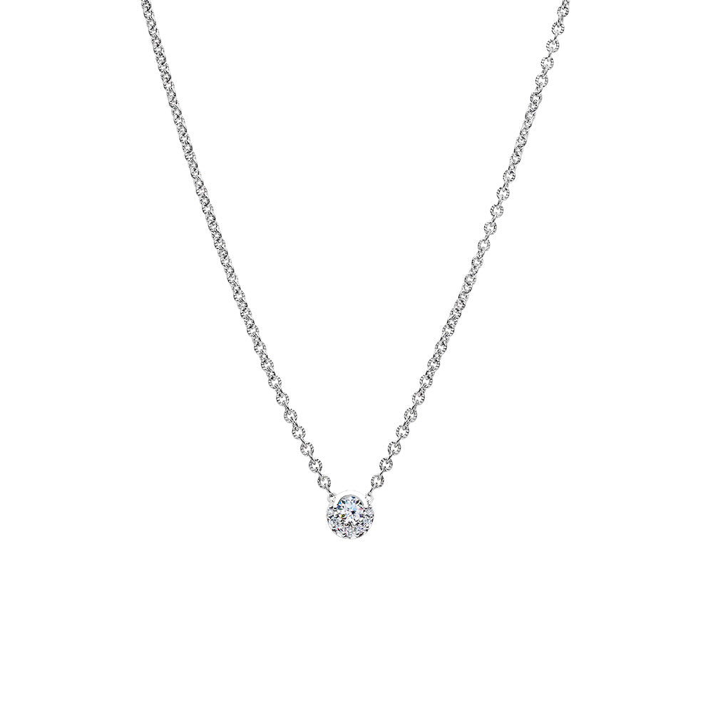 Inspiré Diamond Pendant Necklace in 18K Gold