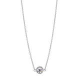 Splendeur Diamond Bezel Pendant Necklace in 18K Gold