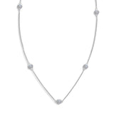 Inspiré Multi-Station Diamond Necklace in 18K Gold